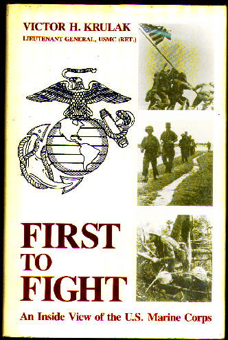 """first to fight krulak book report """"first to fight"""" is probably not what you would expect and yet it is a very good book it is sort of three books in one the first story is about the post-wwii defense reorganization and attempts by some to eliminate the marine corps or fold it into one of the other service branches."""